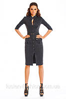 Элегантное платье-сафари casual