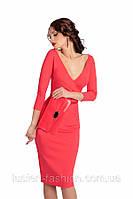 Элегантное  деловое трикотажное платье от производителя