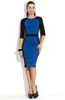 Офисное платье футляр, визуально стройнит