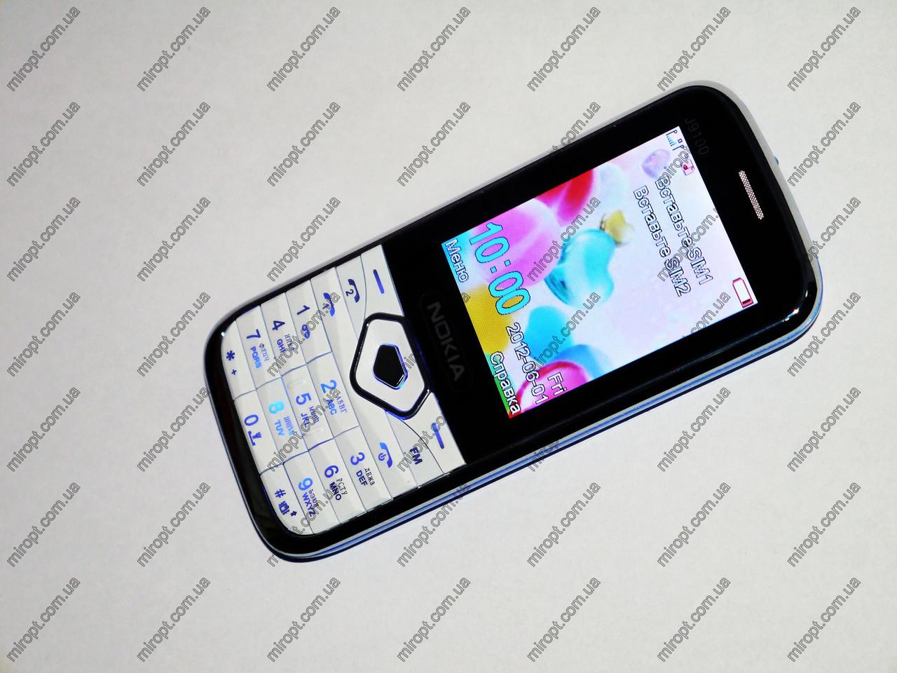 "Телефон Nokia J9100 Белый - 2Sim + 2,4"" + Bluetoth + Camera"