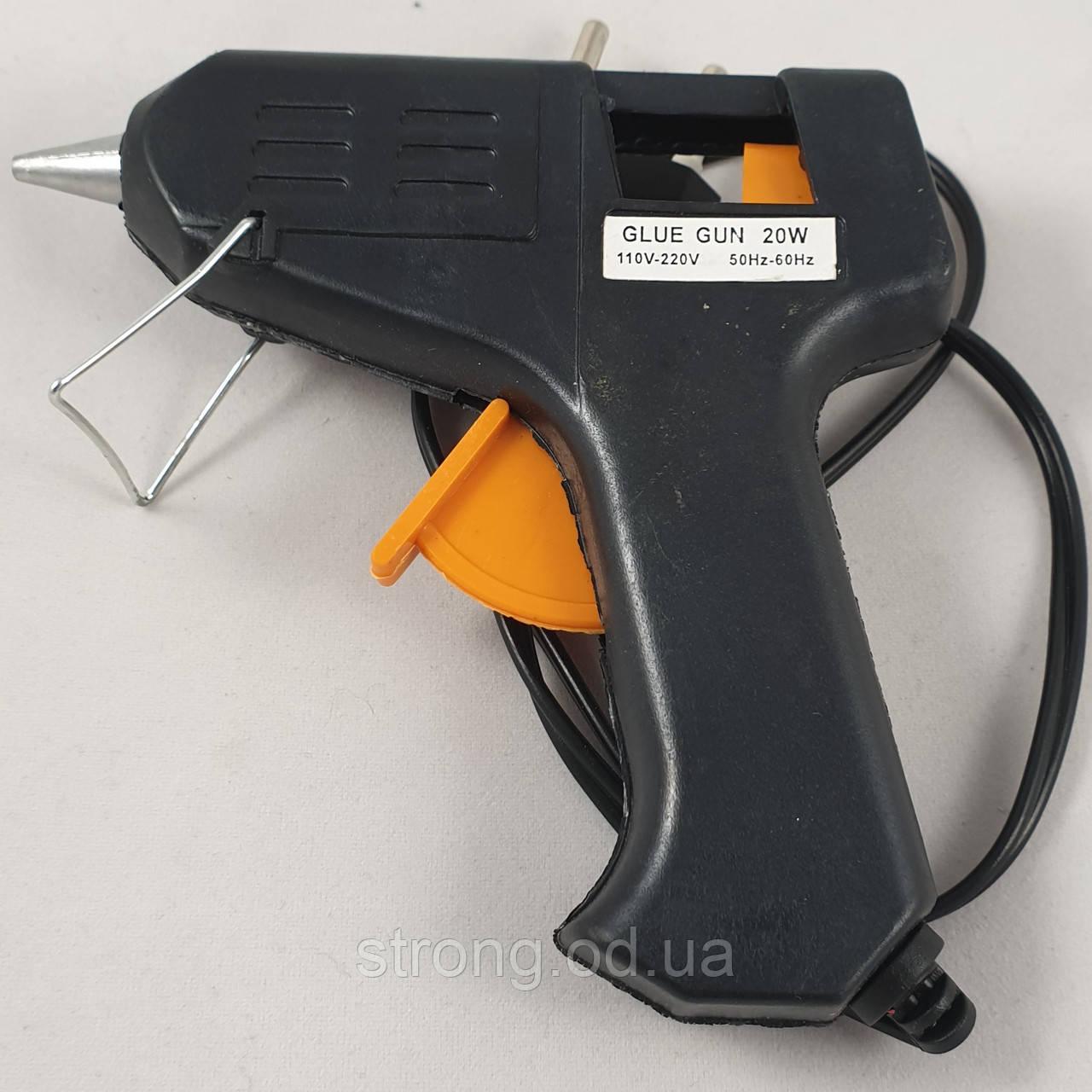 Пистолет Tермоклеевой. 20w стержни 7мм.
