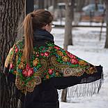 Незнакомка 779-18, павлопосадский платок шерстяной  с шелковой бахромой, фото 2