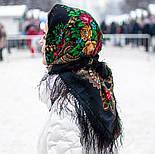 Незнакомка 779-18, павлопосадский платок шерстяной  с шелковой бахромой, фото 3