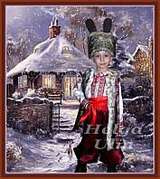 "Карнавальный, новогодний костюм напрокат для мальчика ""Заєць"", ""Зайчик"", ""Зайка"" (у вишиванці)"