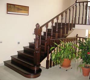Лестницы из дуба, бука, ясеня
