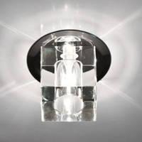 Светильник точечный встраиваемый Feron JD57S под лампу G4 прозрачный