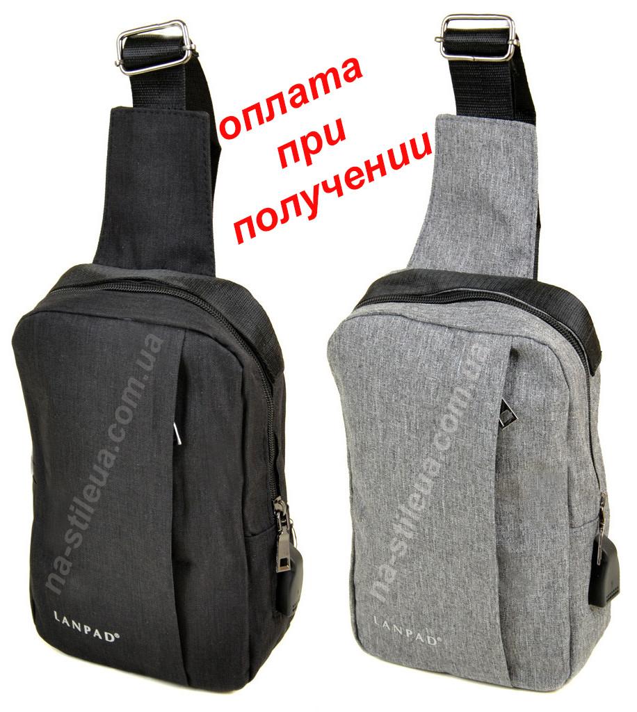 Чоловіча портфель сумка бананка слінг через плече в наявності тканинна
