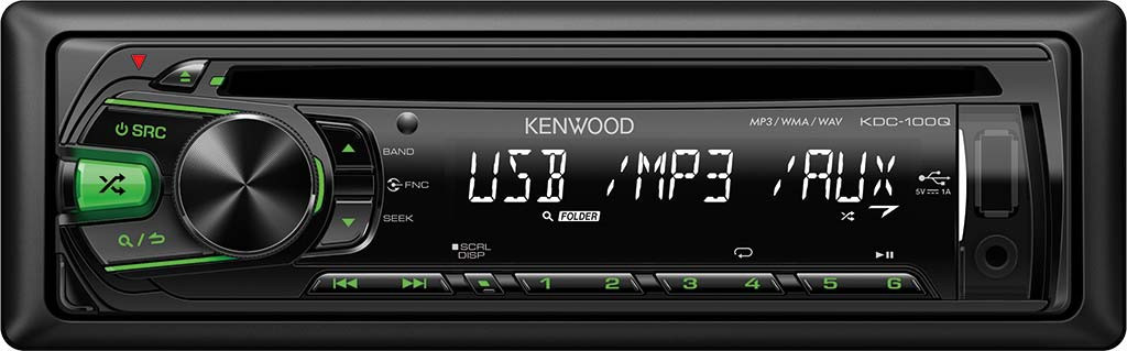 CD/MP3-автомагнитола Kenwood KDC-100Q