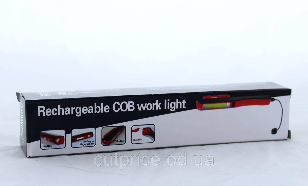 Ліхтарик Esen 86A COB USB (240) в уп. 30шт.