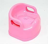 Горшок детский SL с крышкой розовый