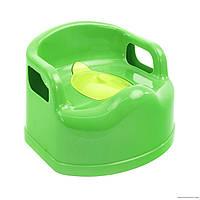 Горшок детский SL с крышкой зеленый