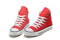 Кеды Converse Red высокие красные