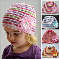 Детская летняя шапочка на девочку х/б панамкаРадуга: хлопок, ажур. 2-7 лет ( р.48-54)