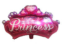 Шар фольгированный Корона Принцессы 74х54 см
