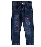 Детские модные джинсы с вышивкой на мальчика, Турция