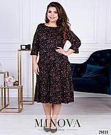 Романтичное платье А-силуэта в мелкий цветочный рисунок с 48 по 54 размер, фото 1