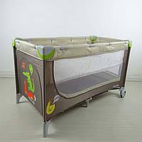 Манеж-кровать CARRELLO Piccolo+ CRL-9201 Caramel Beige