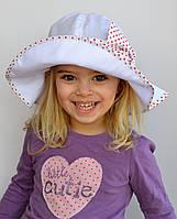 Детская летняя шапочка Панама Бант. Есть р. 52-54 и 54-56 . Бел+черный, бел+красный.