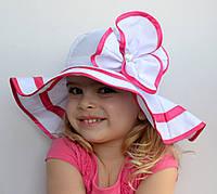 Детская летняя шапочка Панамка Сандра. р. 50-52 и 52-54. Светло-розов, тём.роз, сирень, оранжевые. р. 50-52 си