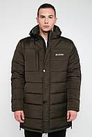 Зимняя мужская куртка на синтепоне большие размеры хаки 3030, фото 1