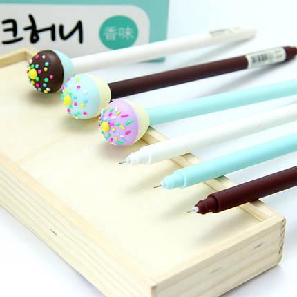 Ручка гелевая Пончик, пишет синим 239GP-0101, фото 2