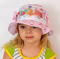 Детская летняя шапочка Панамка Принцесса. Винкс. р. 50-52 и 52-54 розовые, темно-розовые. р.50-52 белые, фото 1