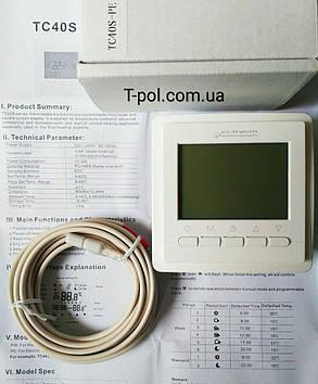 Терморегулятор программируемый in-therm tc40s (BHT-306) для теплого пола, фото 2