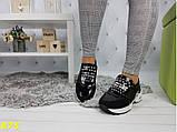 Кроссовки 36 размеры с шипами на массивной подошве К875, фото 4