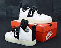 Кроссовки мужские в стиле Nike Air Force 1 White (Реплика ААА+), фото 1