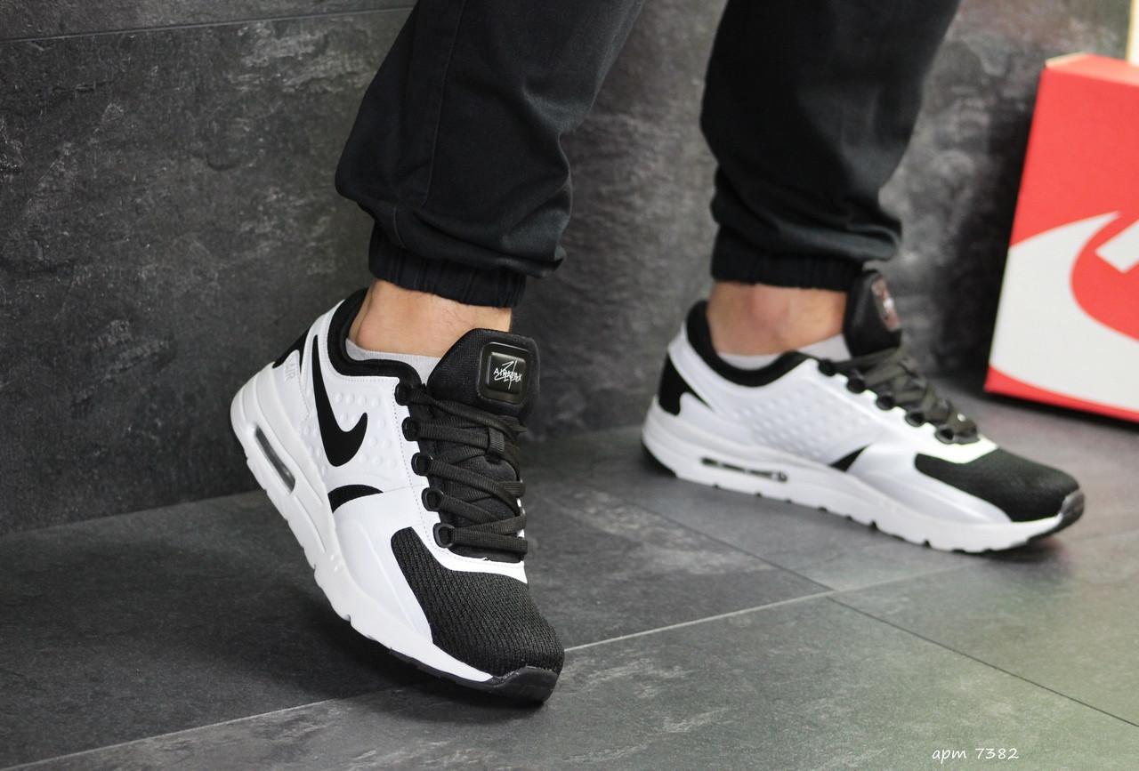 Мужские кроссовки Nike Zero (Черно-белые)