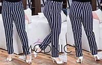Женские модные брюки в полоску  НИ169 (бат), фото 1