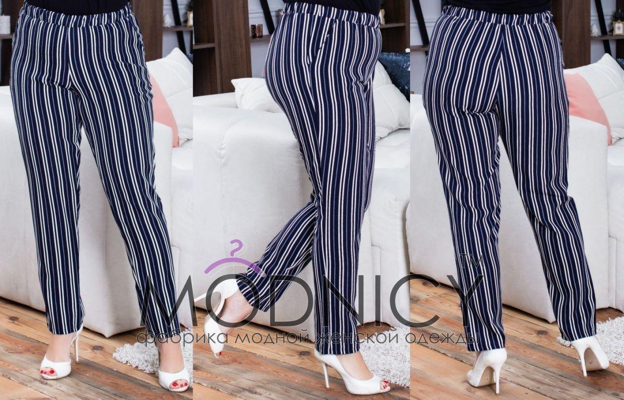 Женские модные брюки в полоску  НИ169 (бат)