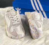 Adidas Yung-1 Grey White | кроссовки женские и мужские; серые-белые