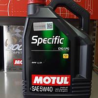 Масло моторное для газовых двигателей MOTUL Specific CNG/LPG  5W40 5L
