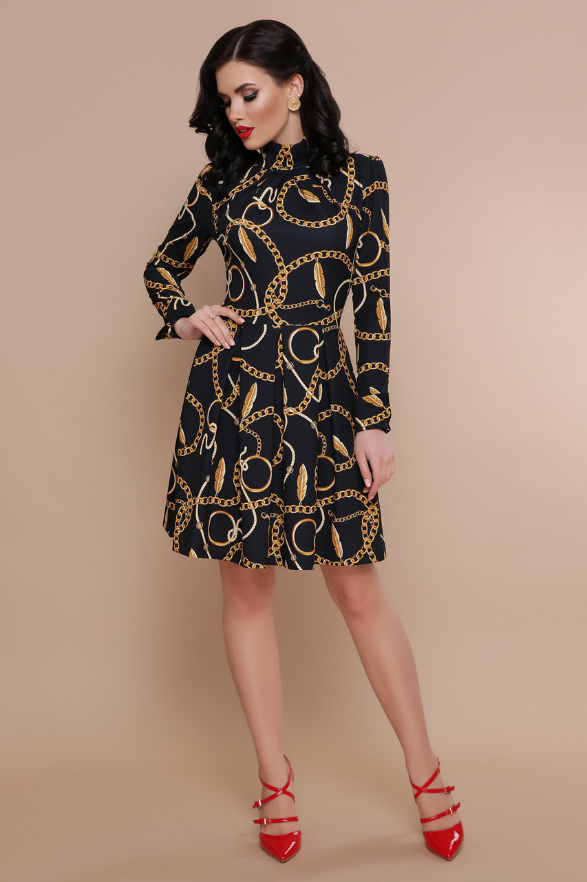 Платье Эльнара д/р Леопард-цепи
