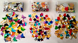 Конфетти Звезды фольга разноцветная 0,5 кг