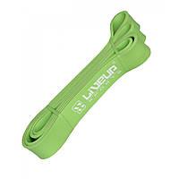 Фитнес-резинка Петля для подтягиваний латексная LiveUp Нагрузка 16 - 39 кг Зеленый (LS3650-2080Mg)