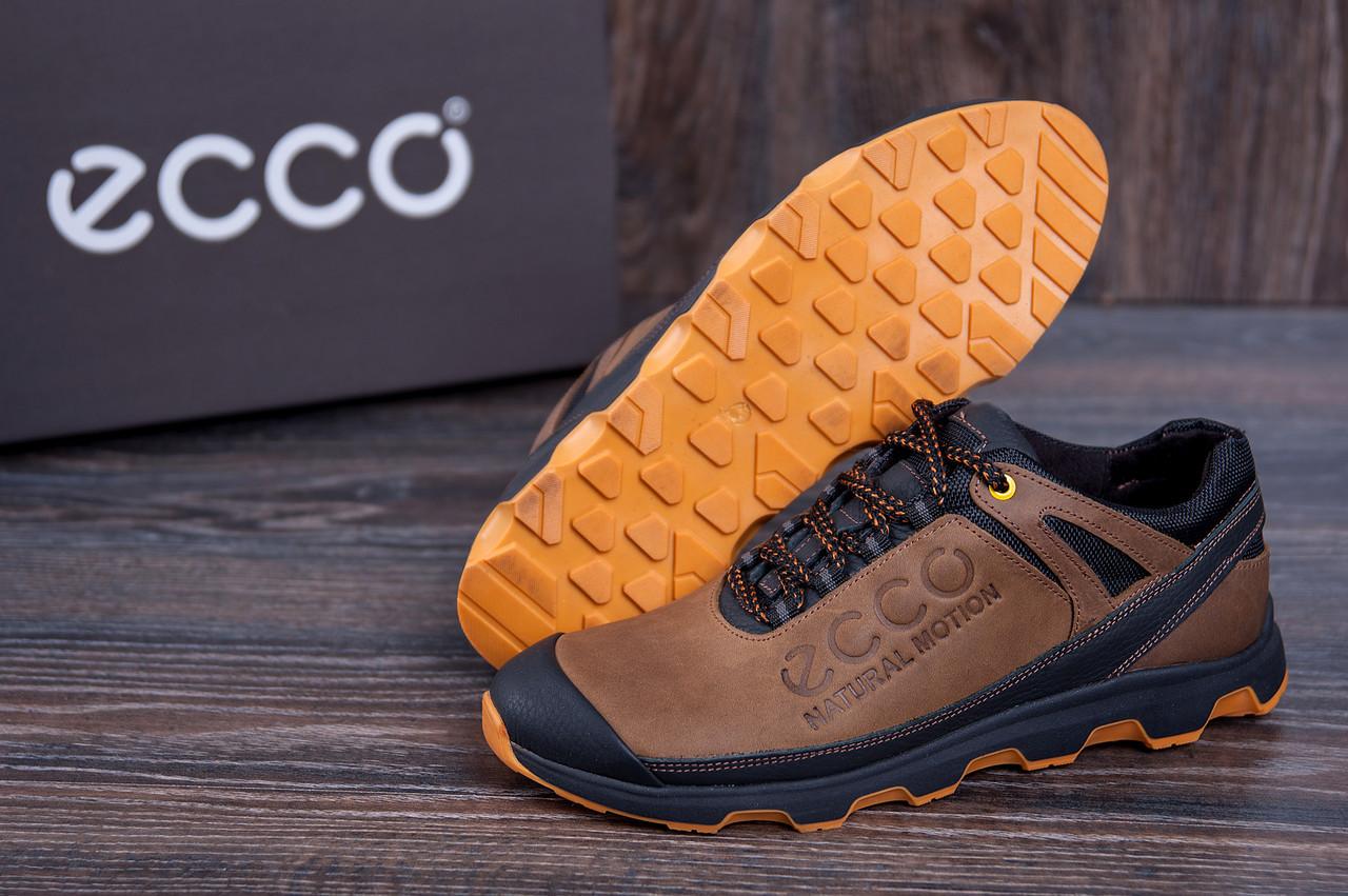 924edfd6 Мужские весенние кроссовки Ecco Motion olive из натуральной кожи (реплика)  - Интернет - магазин