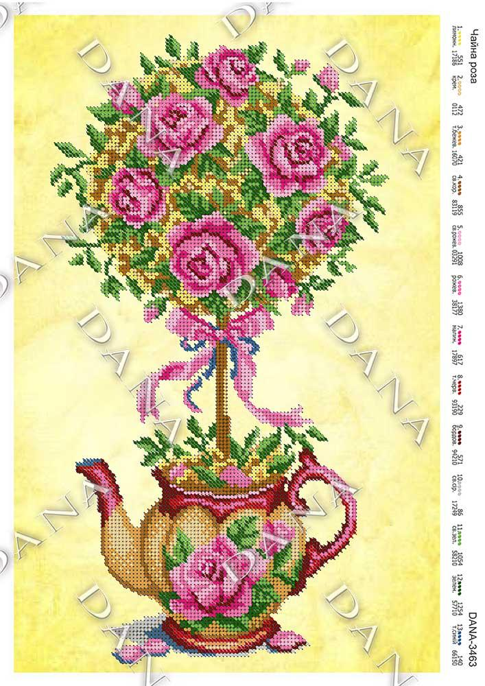 Схема под бисер Чайные розы