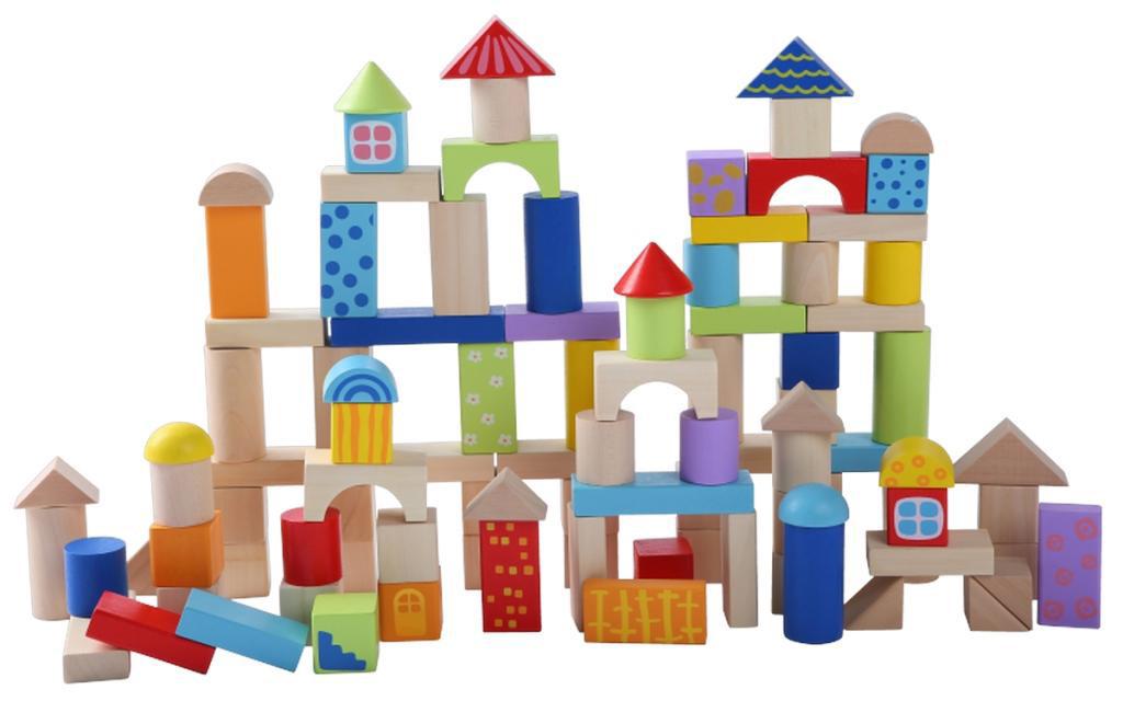 Деревянные кубики  Eco Toys 100шт