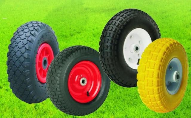 Полиуретановые и цельнорезиновые колеса