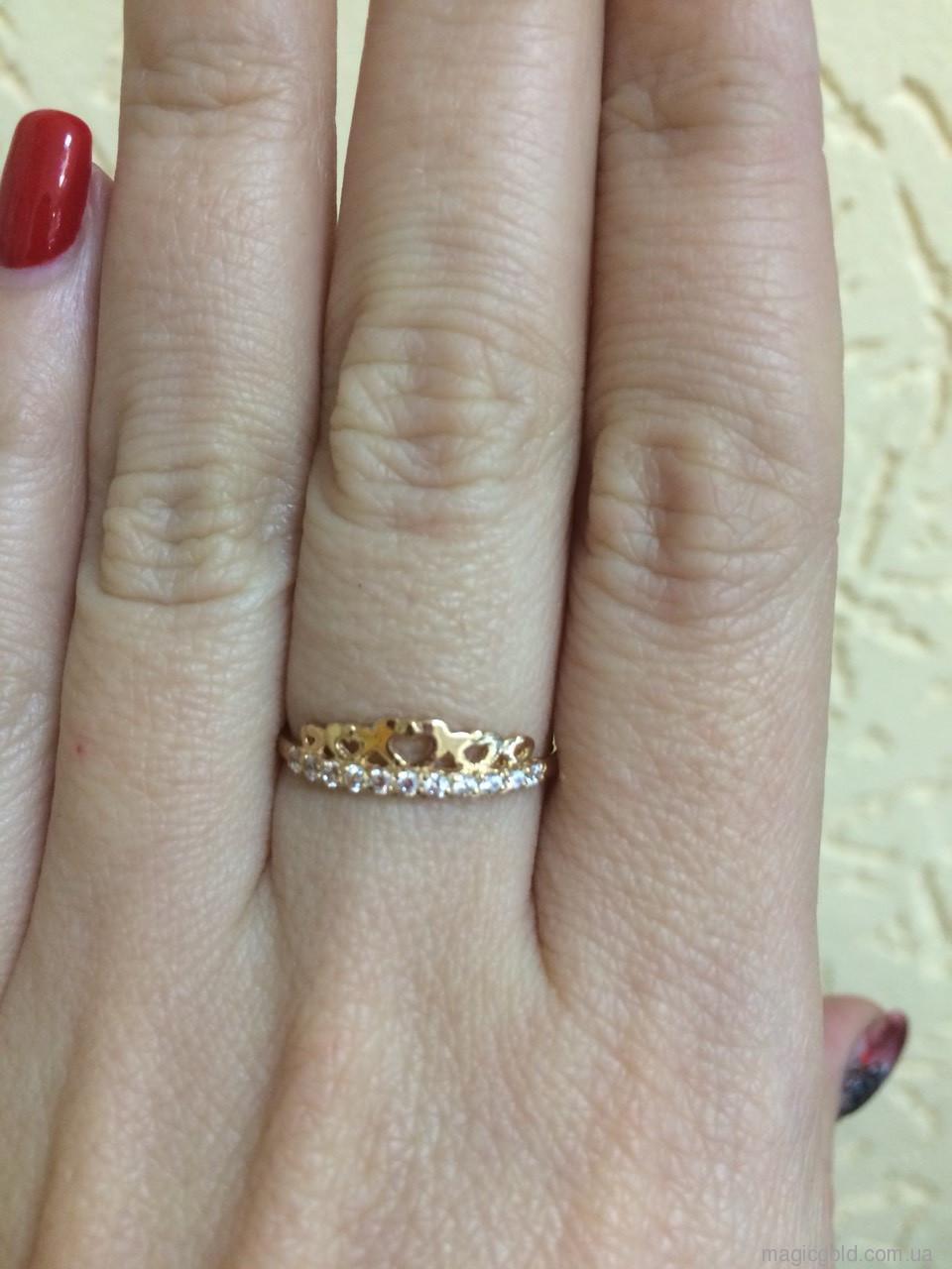 Золотое кольцо Корона Диадема