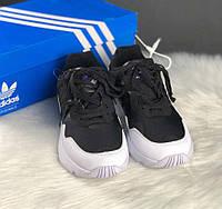 Adidas Yung-96 Black White | кроссовки женские и мужские; черно-белые