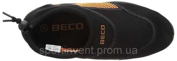 Аквашузы, коралки, обувь для дайвинга, серфинга и плавания BECO 9217 03, чёрный/оранжевый, фото 3