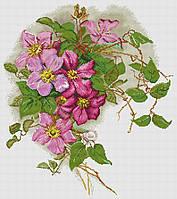 Набор для вышивания крестиком Цветы. Размер: 37,8*42,9 см