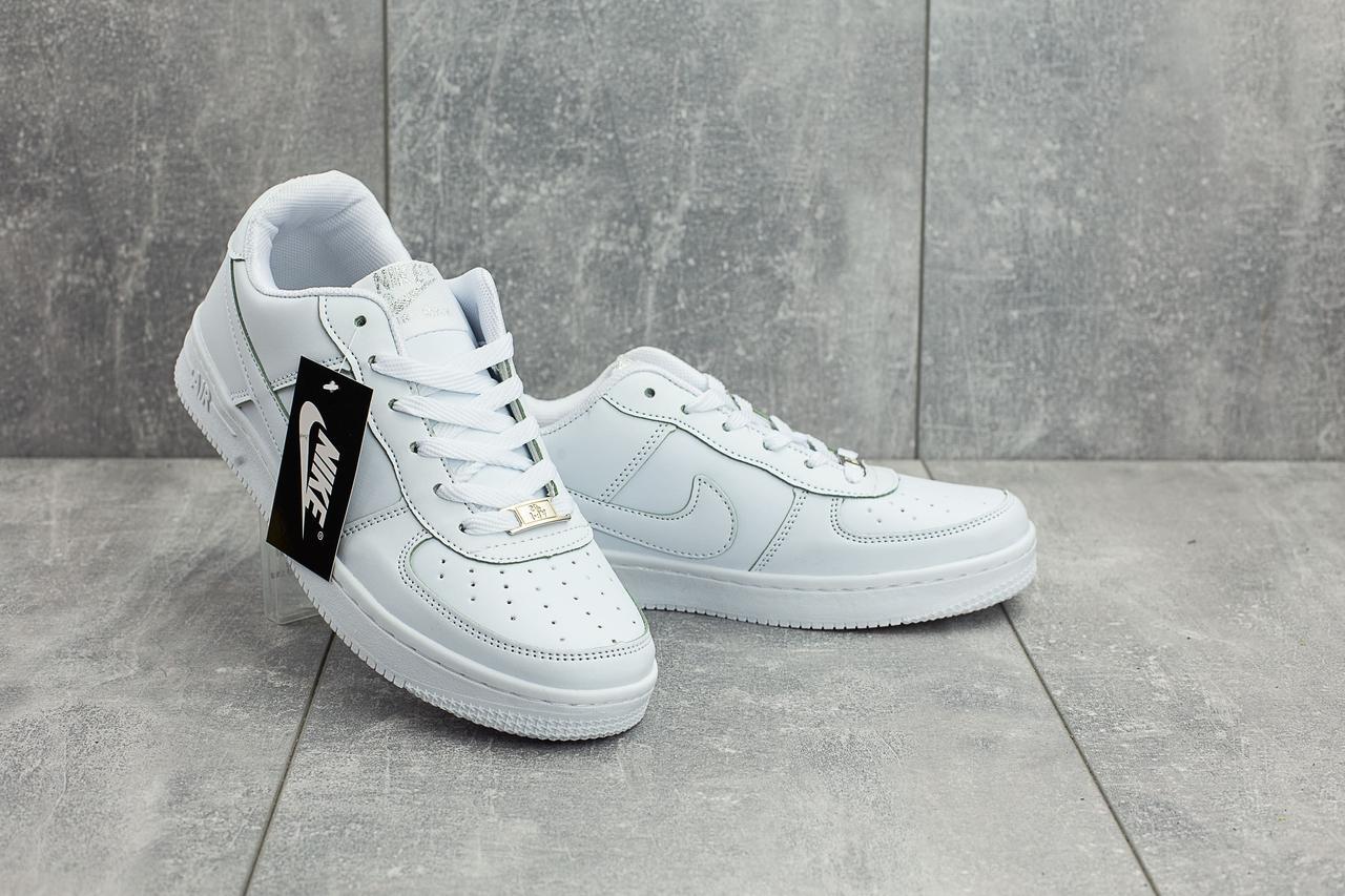 Кеды A 535-1 (Nike AirForce) (весна-осень, мужские, кожа прессованая, белый)