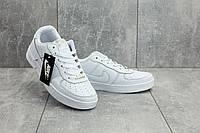 Кеды A 535-1 (Nike AirForce) (весна-осень, мужские, кожа прессованая, белый), фото 1