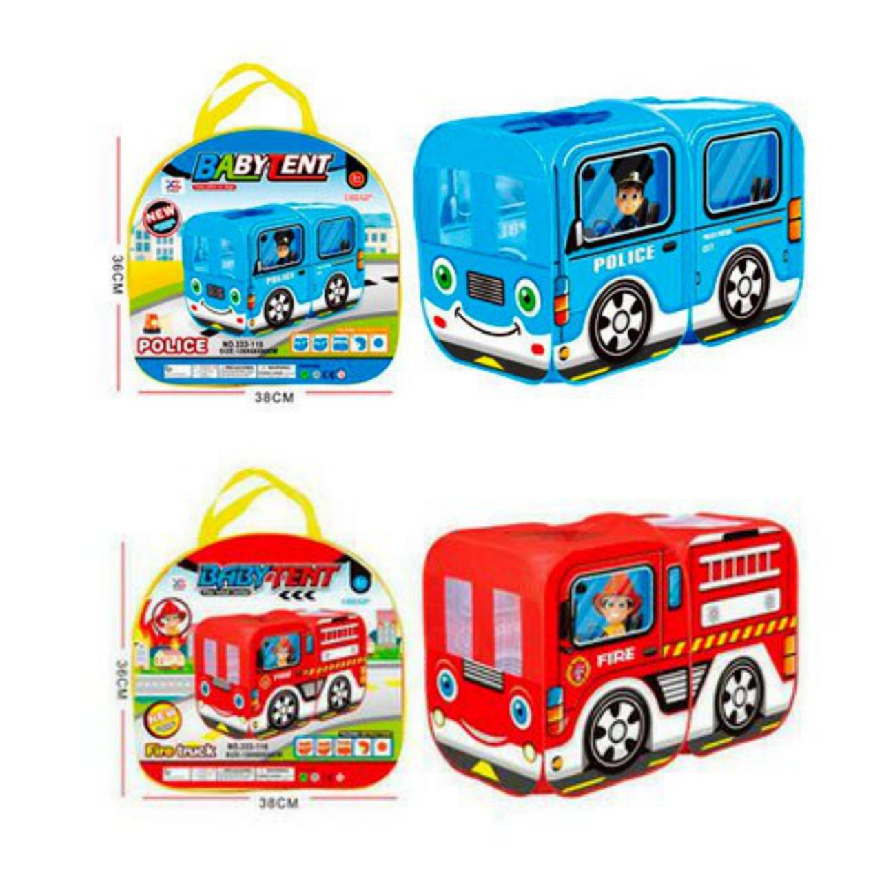 Детская игровая Палатка 5783 Полиция и Пожарные машины