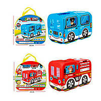 Детская игровая Палатка 5783 Полиция и Пожарные машины, фото 1