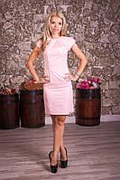 Стильное летнее женское платье с поясом 8002 , фото 1